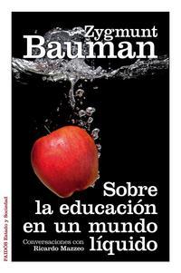 Libro SOBRE LA EDUCACION EN UN MUNDO LIQUIDO: CONVERSACIONES CON RICARD O MAZZEO