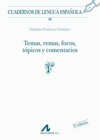 Libro TEMAS, REMAS, FOCOS, TOPICOS Y COMENTARIOS