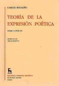 Libro TEORIA DE LA EXPRESION POETICA.