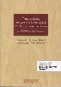 Libro TRANSPARENCIA,ACCESO A LA INFORMACIÓN PÚBLICA Y BUEN GOBIERNO