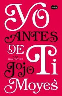 Libro YO ANTES DE TI