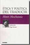 Libro ÉTICA Y POLITICA DEL TRADUCIR