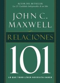 Libro RELACIONES 101