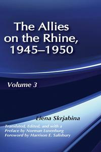 Libro ALLIES ON THE RHINE, 1945-1950