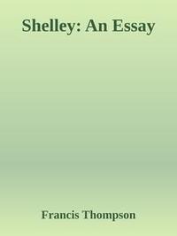 Libro SHELLEY: AN ESSAY