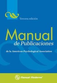 Libro MANUAL DE PUBLICACIONES DE LA APA