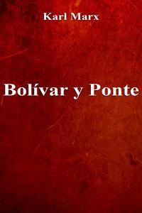 Libro BOLÍVAR Y PONTE