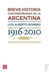 Libro BREVE HISTORIA CONTEMPORÁNEA DE LA ARGENTINA