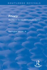 Libro REVIVAL: PRIVACY: STUDIES IN SOCIAL AND CULTURAL HISTORY (1984)