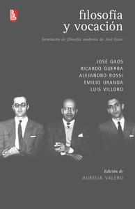 Libro FILOSOFÍA Y VOCACIÓN