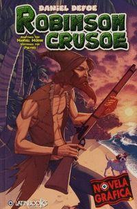 Libro ROBINSON CRUSOE ( NOVELA GRAFICA )