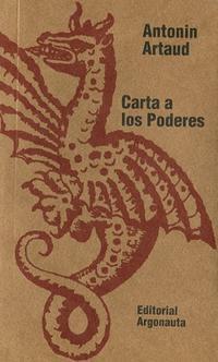 Libro CARTA A LOS PODERES