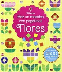 Libro FLORES  HAZ UN MOSAICO EN PEGATINAS