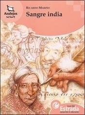 Libro SANGRE INDIA  AZULEJOS NIÑOS  NARANJA