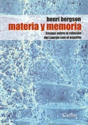 Libro MATERIA Y MEMORIA