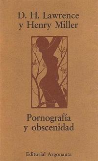 Libro PORNOGRAFIA Y OBSCENIDAD
