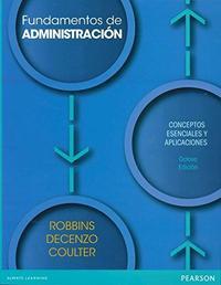 Libro FUNDAMENTOS DE ADMINISTRACION 8 ED