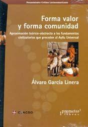 Libro FORMA VALOR Y FORMA COMUNIDAD