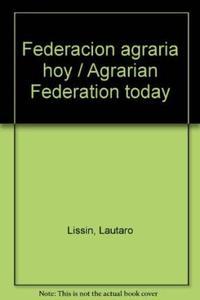Libro FEDERACION AGRARIA HOY