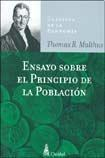 Libro ENSAYO SOBRE EL PRINCIPIO DE LA POBLACION