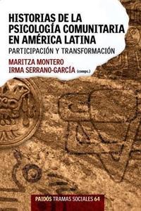 Libro HISTORIAS DE LA PSICOLOGIA COMUNITARIA EN AMERICA LATINA