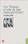 Libro LEO STRAUSS : EL ARTE DE LEER