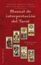 Libro MANUAL DE INTERPRETACION DEL TAROT
