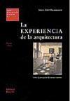 Libro LA EXPERIENCIA DE LA ARQUITECTURA