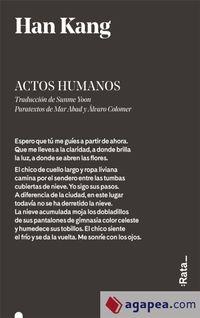 Libro ACTOS HUMANOS