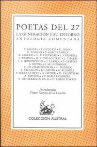 Libro ANTOLOGÍA DE LOS POETAS DEL 27