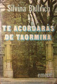 Libro TE ACORDARAS DE TAORMINA