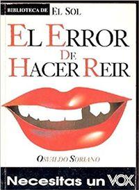 Libro EL ERROR DE HACER REIR