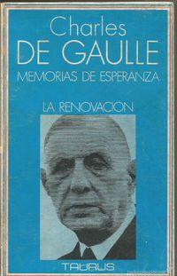 Libro MEMORIAS DE ESPERANZA, LA RENOVACIÓN