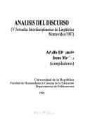 Libro ANÁLISIS DE DISCURSO