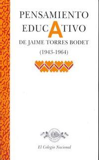 Libro PENSAMIENTO EDUCATIVO