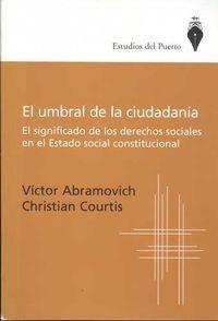 Libro EL UMBRAL DE LA CIUDADANÍA