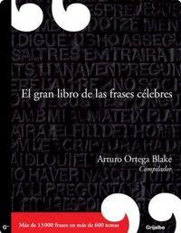 Libro EL GRAN LIBRO DE LAS FRASES CÉLEBRES