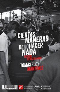Libro CIERTAS MANERAS DE NO HACER NADA