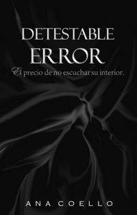 Libro DETESTABLE ERROR