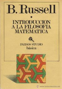 Libro INTRODUCCIÓN A LA FILOSOFÍA MATEMÁTICA