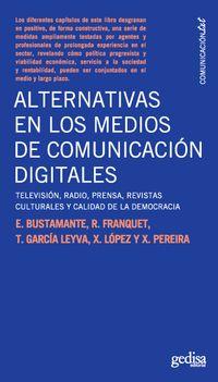 Libro ALTERNATIVAS EN LOS MEDIOS DE COMUNICACIÓN DIGITALES