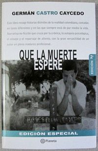 Libro QUE LA MUERTE ESPERE
