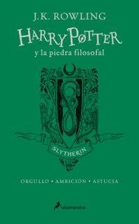 Libro HARRY POTTER Y LA PIEDRA FILOSOFAL ( SLYTHERIN ) EDICIÓN ESPECIAL 20 AÑOS