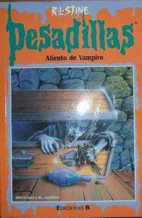 Libro ALIENTO DE VAMPIRO